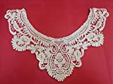 Yulakes Neckline Lace Collar Lace Braid Lace Applique Dress DIY White Flower Lace Applique Embroidered Guipure Wedding Lace Embroidery Patch one size