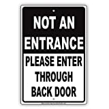 Eugene49Mor nicht einen Zugang Bitte Geben Sie durch Hintertür Vorsicht Alert Achtung Hinweis Aluminium Metall blechschild 20,3x 30,5cm Teller