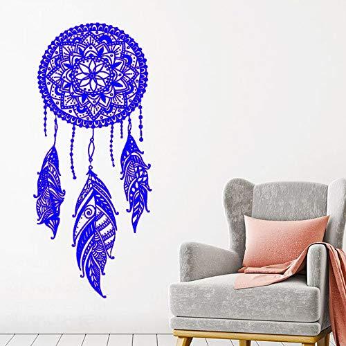 zqyjhkou Traumfänger Wandtattoo s Night Symbol Wandaufkleber Home Schlafzimmer Dekor Indisches Mandala Böhmisches Design Wandbild 3 42x98cm