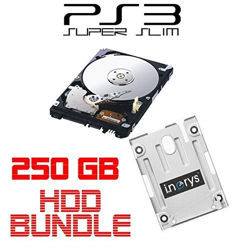 atte für SONY PS3 Super Slim (12GB, CECH-400x) + Einbaurahmen + Handbuch/Manual + Positionsschrauben ()