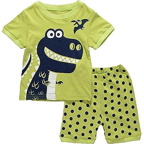 "Milanao Boys "", 2 pezzi, 100% cotone, maglietta& Pajama Set 2T-Pantaloni taglia 7"