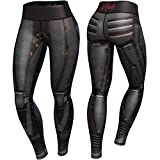 Anarchy Apparel Compression Leggings, Dark Robota, Fitness, Hosen, Pants, Aerobic