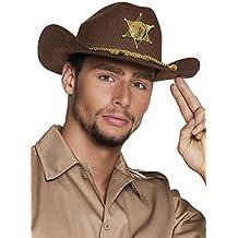 Adulti vice sceriffo cappello da cowboy marrone
