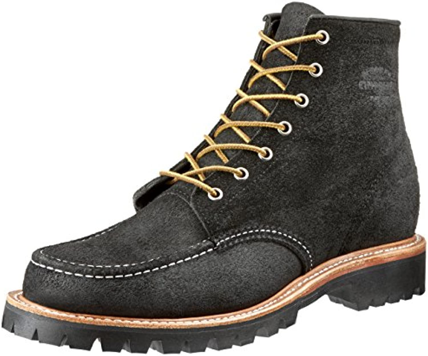 Justin Brands Chippewa 6inch Shipton Black Mountaineer MOCC Toe Boots   US 8 (E)