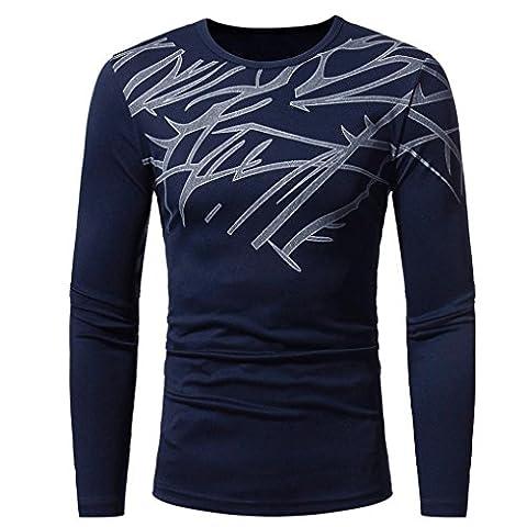 Toamen HommeT-shirt, Manche longue Chemisier (M, Marine)