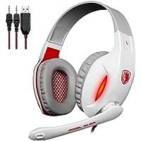 Sades SA808 Auriculares para videojugadores con sonido estéreo envolvente, auriculares de diadema, cascos con