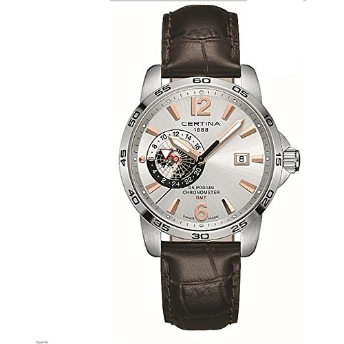 Certina Men's DS Podium GMT 41mm Leather Band Quartz Watch C034.455.16.037.01