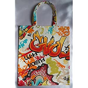 Stoff beutel Graffiti Druck / Grafiti Tasche bunt / 75 % Baumwolle / Unikat