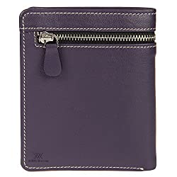 Aditi Wasan Genuine Leather Purple Wallet