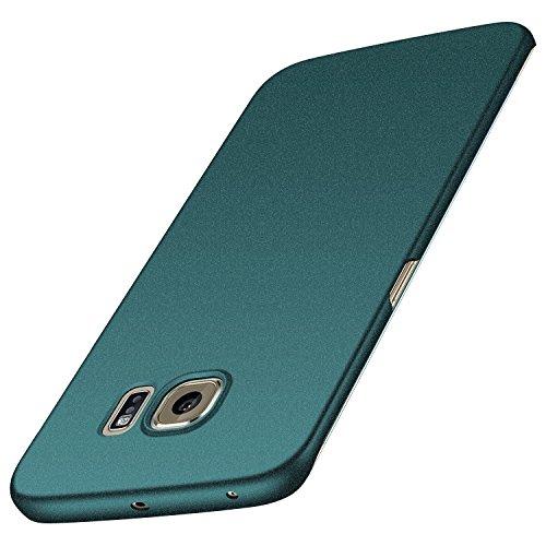 anccer Samsung Galaxy S6 Edge Hülle, [Serie Matte] Elastische Schockabsorption & Ultra Thin Design für Samsung Galaxy S6 Edge (Kies Grün)