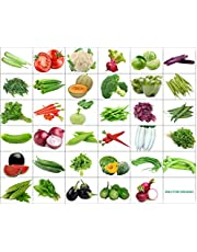 Only For Organic 35 Varieties Of Seeds With Instruction Manual - 1600+ Seeds