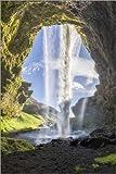 Poster 60 x 90 cm: Kvernufoss Wasserfall in Island von