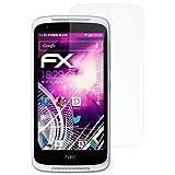 atFolix Glasfolie kompatibel mit HTC Desire 526G+ Panzerfolie, 9H Hybrid-Glass FX Schutzpanzer Folie