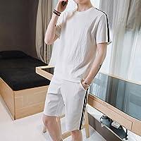 WLG Ropa de Los Hombres de la Sección Delgada de la Compasión de Los Hombres de Verano de Manga Corta Marea Salvaje Pantalones Cortos de Hombres Traje de S,UN,Metro