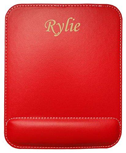 Preisvergleich Produktbild Kundenspezifischer gravierter Mauspad aus Kunstleder mit Namen Rylie (Vorname / Zuname / Spitzname)
