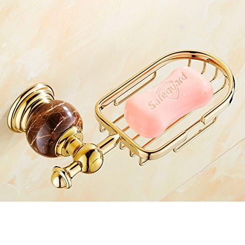 Stein Seife/Goldenen Messing Seifenschale/Marmor Badezimmer Soap Box/SOAP Korb/antike Soap Box/Europäische Seife Netze-C -