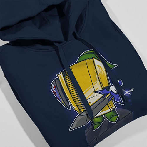 NES Console 8Bit Hero Women's Hooded Sweatshirt Navy Blue
