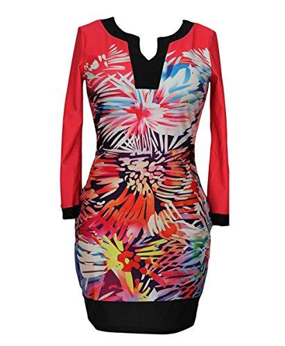E-Girl FOB21905 femme moulante Robe de soirée Multicolore