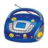 AEG Stereo Lautsprecher Radio Boombox USB SD Musik Anlage im Set Inklusive Smiley Sticker
