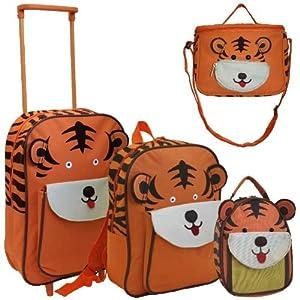 Karabar Set of 4 Super Lightweight Kids Bags (Tiger)