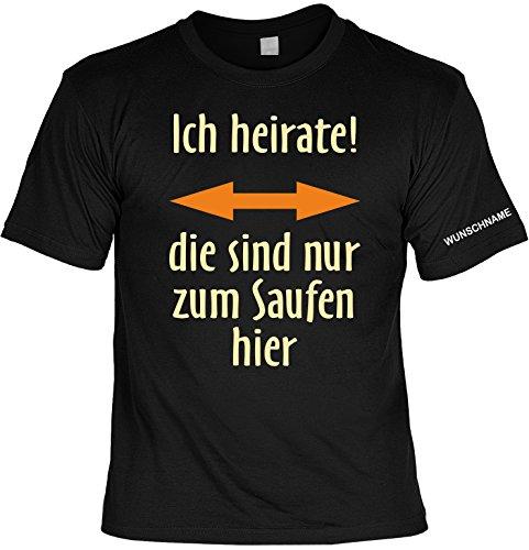trag-das Junggesellenabschied Witziges T-Shirt Für Junggesellenfeier Ehe JGA Shirts JGA Outfit JGA Polterabend Hochzeit T-Shirt mit Wunschnamen: Ich Heirate