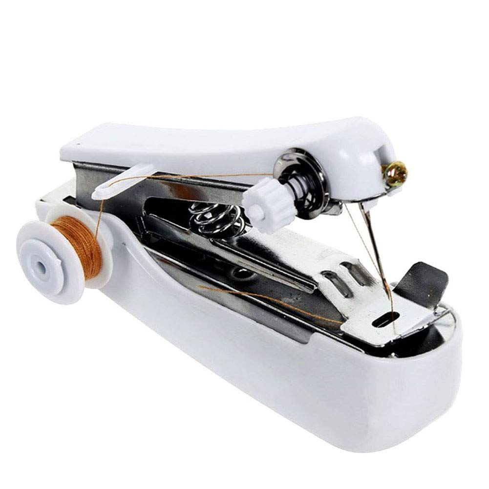 Haofy Mini Handheld Sewing Machine Cordless Portable Travel Clothes Fabric Curtains Lightweight Craft Sewing Machine Battery or Mains with Extra Bobbins /& Needle /& Threader