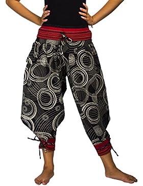 Lofbaz Donna Pantaloni da dell'Hhmong in Cotone Disegnato