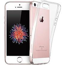 ESR Funda iPhone SE / iPhone 5 / 5S Transparete Suave TPU Gel [Ultra Fina] [Protección a Bordes y Cámara] [Facilidad de Acceso a Botones] para Apple iPhone SE/5S/5/5C