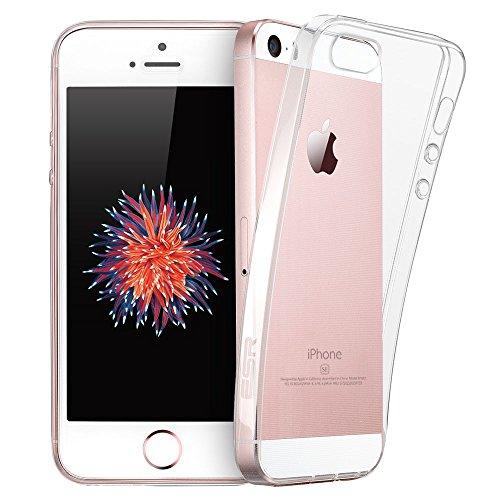 ESR Funda iPhone SE/iPhone 5/5S Transparete Suave TPU Gel [Ultra Fina] [Protección a Bordes y Cámara] [Facilidad de Acceso a Botones] para Apple iPhone SE/5S/5/5C