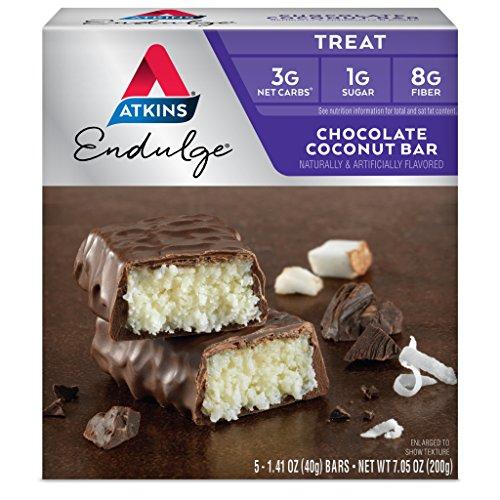 Endulge Schokolade (Atkins, Endulge, Chocolate Coconut Bar, 5 Bars, 1.4 oz (40 g) Each)