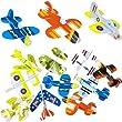 German Trendseller® - 12 x Styropor Flieger l Mitgebsel ┃ Kindergeburtstag ┃ Viele Modelle ┃ NEU ┃ 12 Stück