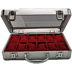 Aluminium Watch Box for 12Watches 2651Lock New 7009