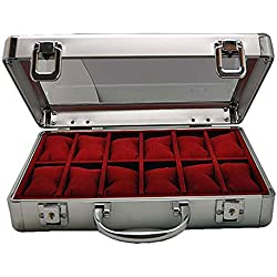 Alu-Uhrenkoffer für 12 Uhren 265-1 abschließbar NEU 7009