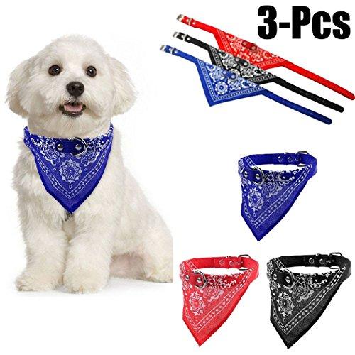 Halstuch Hund, Legendog 3 Stück Hunde Lätzchen Dreieck Verstellbare Gedruckte Welpe Halstuch Haustier Bandana für Hund XS