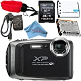 Fujifilm FinePix XP130 Digital Camera (Silver) #600019824 + Camera Floating Strap Lithium Ion Battery + Microfiber Cloth Bundle