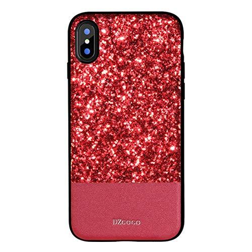 Shiduoli Die Tasche ist kompatibel mit dem iPhone X Case, dem iPhone 6 Case und dem luxuriösen handgefertigten Gold Glitzer Gehäuse (Color : Red, Size : iPhone 6p/6sp)