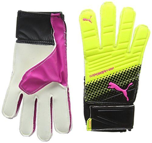 PUMA Torwarthandschuhe Evopower Grip 4.3, Pink Glo/Safety Yellow/Black/Tricks, 11, 041227 10