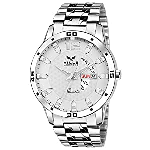 Vills Laurrens VL-1049 White Day and Date Series Watch - for Men