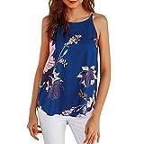 Casual Blouse Vest T Shirt, Kanpola Womens Sleeveless Flower Printed Tank Top