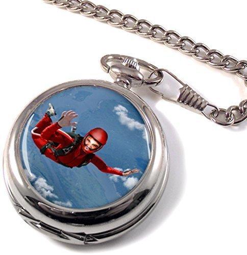 Paracaidismo Full Hunter reloj de bolsillo