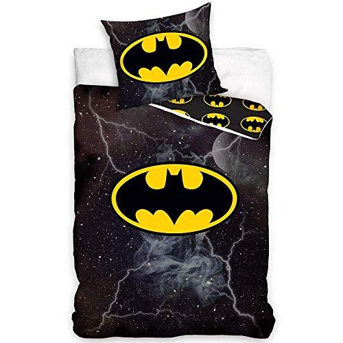 Comics DC Bettwäsche-Set mit Batman-Logo, Baumwolle, Bettbezug