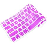 iBenzer - Macaron Serie Purple Keyboard Cover Silicone Rubber Skin for Macbook Pro 13'' 15'' 17'' (with or without Retina Display) Macbook Air 13'' and iMac - Purple MKC01PU