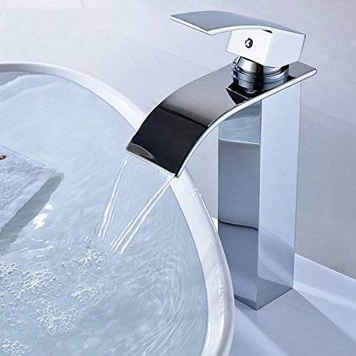 Preisvergleich Produktbild tougmoo Vintage Sculpture Tall Single Handle Kitchen Faucet Vessel Sink Mixer Taps Swivel Spout, Chrome, Silver