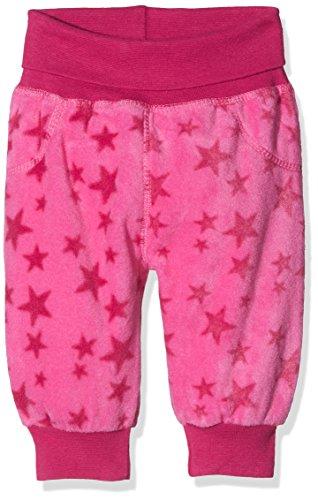 Schnizler Unisex Baby Hose Fleece Pumphose Babyhose Sterne mit Strickbund, Oeko-Tex Standard 100 Rosa (Pink 18), 80