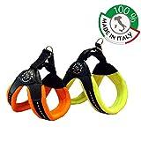 TRE Ponti Geschirr Easy Fit Soft Fleece in Div. Größen und Farben, Farbe:Gelb, Größe:Gr.2.5/34-38cm/Click-Verschluss