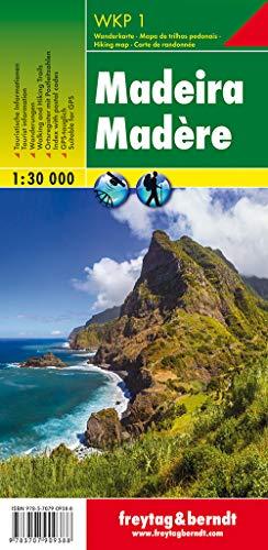 Madeira, Wanderkarte 1:30.000: Wandel- en fietskaart 1:30 000 (freytag & berndt Wander-Rad-Freizeitkarten)