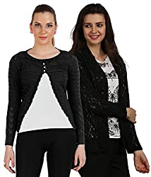 Womens Woolen and Net Shrugs(Pack of 2)