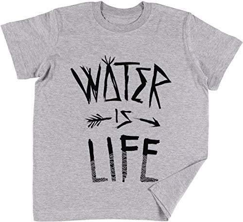 Water is Life Kinder Jungen Mädchen Unisex T-Shirt Grau -