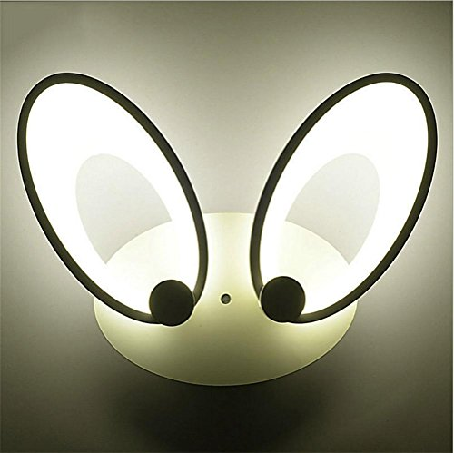 GJY LED BELEUCHTUNGLed-Wandleuchte Doppel-Kopf Nachttischlampe Kreative Persönlichkeit Schlafzimmer Studie Gang Balkon Beleuchtung , White Light,white (Doppel Kostüm Kopf)