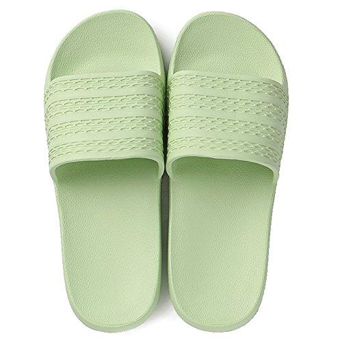 DogHaccd pantofole,Home luce da interno giovane home trascinare maschio ladies estate balneare bagno anti-skid deodorante pantofole Verde chiaro